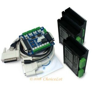 Cnc Router Diy Kit 3 Axis Breakout Board 3 X M542 Stepper Motor Driver 1 4 5a