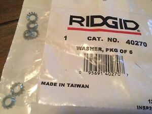 Ridgid 40270 Washer Pkg Of 6 Washers For 300 300a 535 Threader