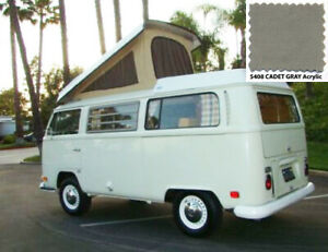 68 73 Vw Westfalia Camper Top Cadet Gray Acrylic Canvas New In Box