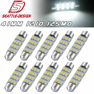 10x 42mm 41mm Festoon Led Dome Map Courtesy Door Interior Light Bulb Super White