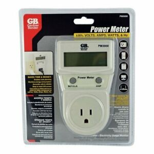 Gardner Bender Power Meter Energy Consumption Monitor Calculates Kw h Volts