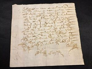 Year Of 1600 Old Document