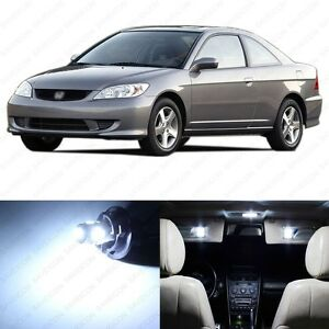 8 X White Led Lights Interior Package For Honda Civic 2001 2005 Pry Tool
