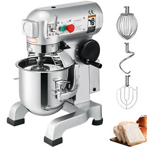 Vevor Commercial Stand Machine Electric Food Mixer Dough Mixer 3speed 30qt 1 5hp