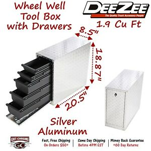 Dz 95da Dee Zee Tool Box Wheel Well Box With Drawers Aluminum Full Size Truck
