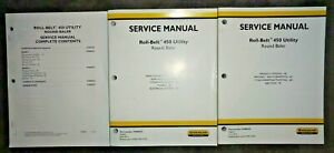 New Holland Roll belt 450 Utility Round Baler Service Repair Manual Nh Original