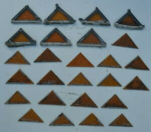 26 Triangle Pieces British Leaded Light Stained Glass S607