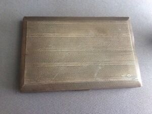 Russian Imperial Cigarette Case Sterling Silver Hallmark 84