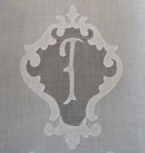 Vintage Set 3 Madeira Organdy Hand Towels Monogram T Embroidery Guest Tea