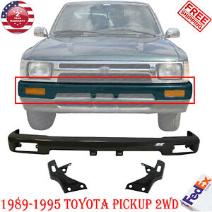 Front Bumper Black Mount Arm Bracket Kit For 1989 1995 Toyota Pickup 2wd