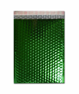 Green Metallic Bubble Mailers 7 5 X 11 Padded Envelopes 250 Pieces Per Case