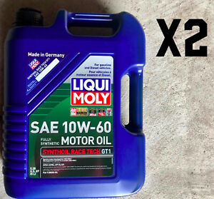 10 Liters Engine Oil Liqui Moly 10w 60 Fully Synthetic Racetech Motor Oil 10 L