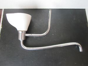 Vtg Antique Porcelain Drinking Fountain Bubbler Stainless Steel Plumbing Pipes