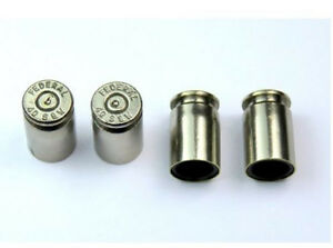 Set Of 4 Bullet Valve Tire Caps For Car Silver Nickel