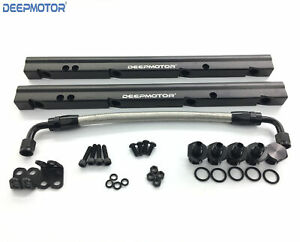 Deepmotor Billet Fuel Rail Kit For Oe Ls1 Ls2 Ls6 Stock Intake Manifold 6an