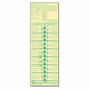 Tops Time Card For Acroprint And Lathem Weekly 3 1 2 X 10 1 2 500 box