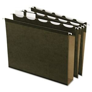 Pendaflex Ready tab Hanging File Folders 2 inch Capacity 1 5 Tab Letter Green