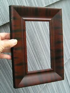 Antique Art Crafts Mission Picture Frame Faux Mahogany Black Finish 3 3 4 X 7