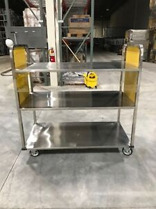 New Rolling Egg Or Food Cart With 3 Shelves Large Version