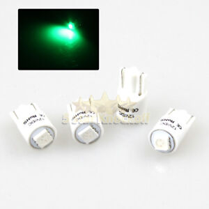 New 4 Pc 168 194 2821 W5w T10 Led Light Bulbs Replacment 1x 5050 Smd Chips Green