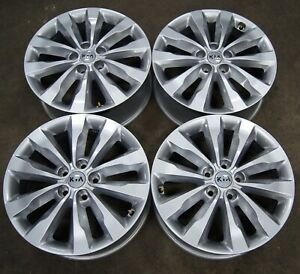 Kia Sedona Painted Silver Factory Oem 18 Wheels Rims 15 19 74747 1542