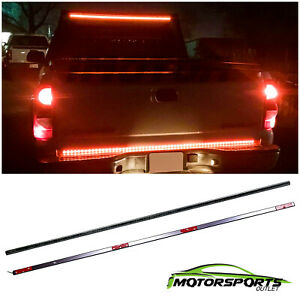 60 Led Tailgate Light Strip Bar Sequential Brake Reverse Signal For Trunk Suv