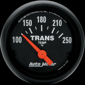 Auto Meter Z series 52mm Electric Transmission Temperature Gauge 100 250 Deg F