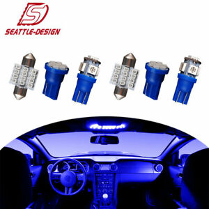 13x Blue Bulbs Interior Package Kit For Map Dome Door T10 31mm Festoon Lights