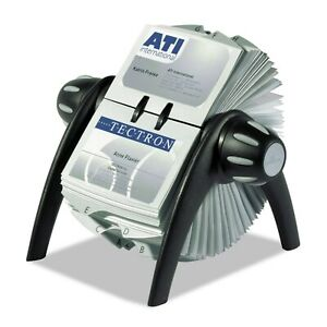Durable Visifix Rotary Business Card File Holds 400 4 1 8 X 2 7 8 Cards