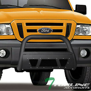 Topline For 1998 2011 Ford Ranger Studded Mesh Bull Bar Grille Guard Matte Blk