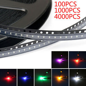 0603 Smd Led Red Green Blue Yellow White Orange Purple 7colours Light Diodes P