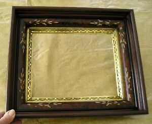 Old Wood Deep Carved Eastlake Victorian Great Gold Gilt Picture Frame 8 X 10