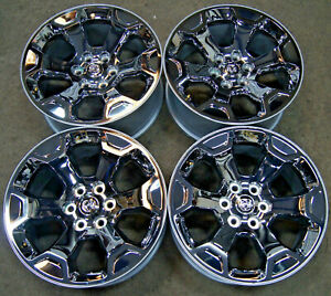 4 New Takeoff Dodge Ram 1500 20 Factory Oem Chrome Clad Wheels Rims 2019 Only