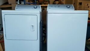 Maytag Top Load Washer 27x27x35 And A Matching Front Load Dryer