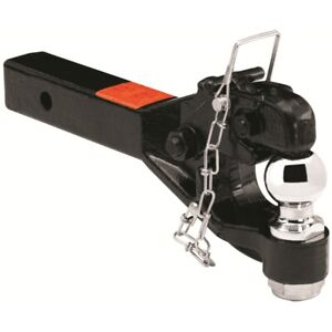 63041 Tow Ready Black 12 000 Lbs Receiver Mount Pintle Hook With 2 Ball
