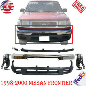 Front Bumper Chrome Valance Mounting Bracket For 1998 2000 Nissan Frontier 5pcs