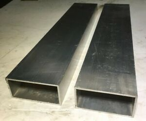 Lot Of 2 6061 Aluminum Rectangle Tube 1 8 Wall 2 X 4 X 20 125 Length