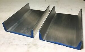 Lot Of 2 American Standard 6061 T6 Aluminum Channel 6 X 1 92 X 0 20 X 9 5