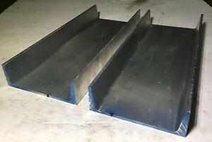 Lot Of 2 American Standard 6061 T6 Aluminum Channel 6 X 1 92 X 0 2 X 15 25