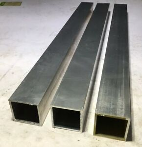 Lot Of 3 6061 Aluminum Square Tube 1 8 Wall 2 X 2 X 23 625 Length
