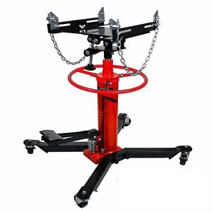 High Quality 1100 Lbs 2 Stage Hydraulic Transmission Jack Stand Lifter Hoist