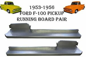 1953 1954 1955 1956 Ford Pickup Truck F 100 Steel Running Board Set 53 54 55 56
