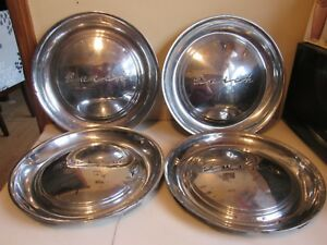 Vintage Set Of 4 1951 1952 Buick Car Hubcaps 15