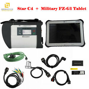 Mb Star C4 Diagnostic With Wifi Das Xentry 03 2019 With Military Fz g1 Tablet