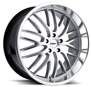 19x8 Tsw Snetterton 5x120 Rims 20 Hyper Silver Wheels New Set 4