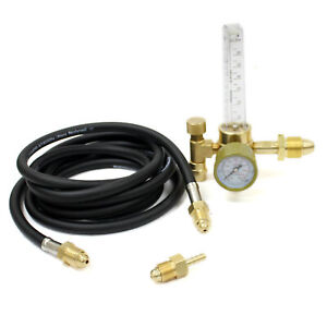 Argon Mig Tig Co2 Flow Meter Regulator With 10 Ft Hose For Welding Weld Gauge