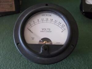 Hickok 3 Volt Dc Panel Meter Type 46 Tube Tester 3 1 2