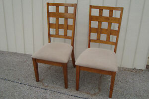 59472 Pair Modern Dining Chairs Chair S