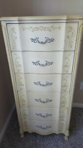Gorgeous Henry Link Antique French Provincial 1900 S Tall Floral Dresser Vanity
