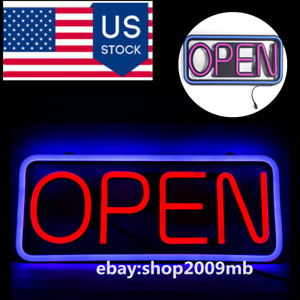 12v High Brightness Led Neon Open Sign Waterproof Spectacular Outdoor Square
